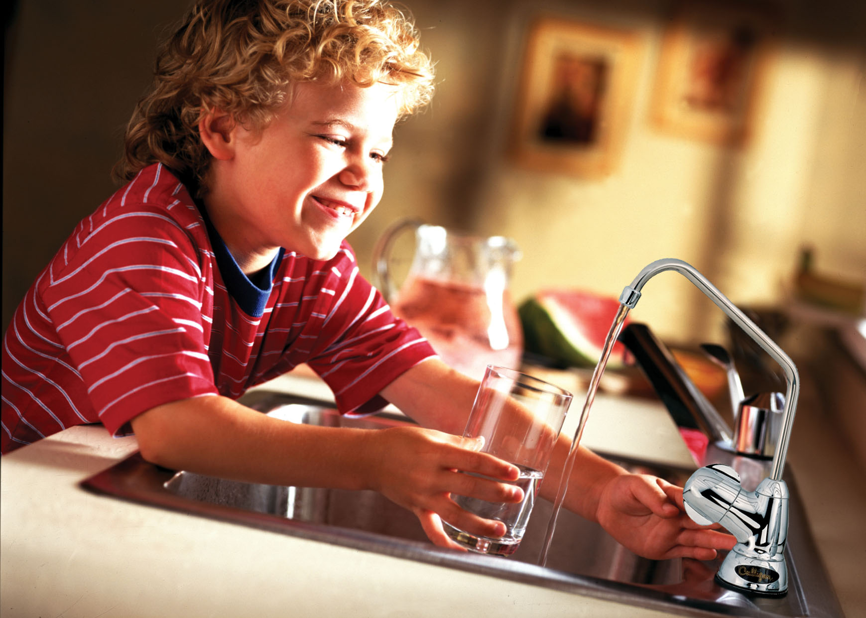 Boy Drinking Culligan Water